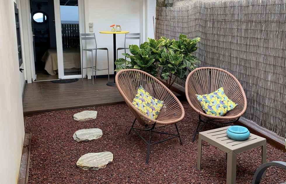 Terrasse Des Carambole-Gästezimmers